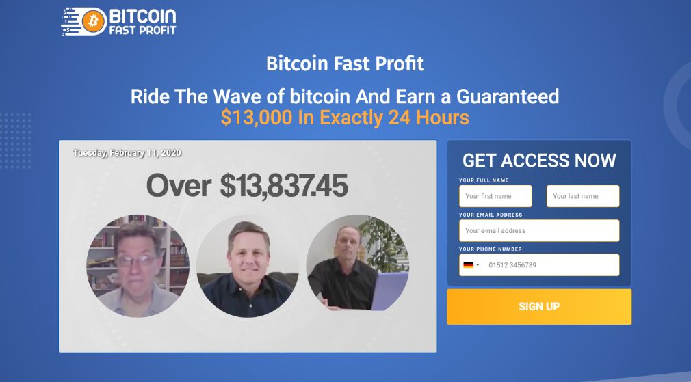Bitcoin Fast Profit Review – Is it SCAM or LEGIT broker?