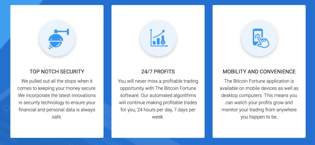 Bitcoin Fortune benefits