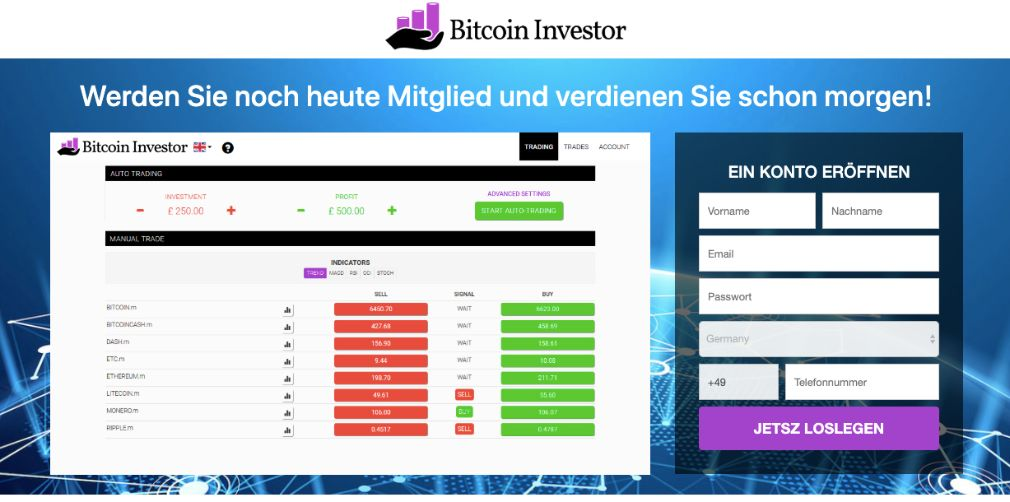 Bitcoin investor experience and test