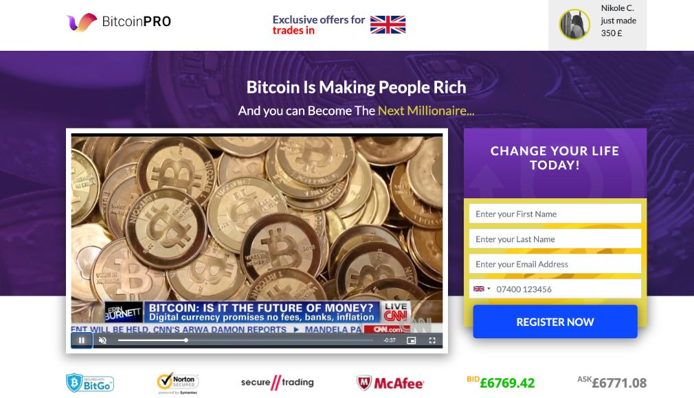 Bitcoin Pro Review – Is it SCAM or LEGIT broker?