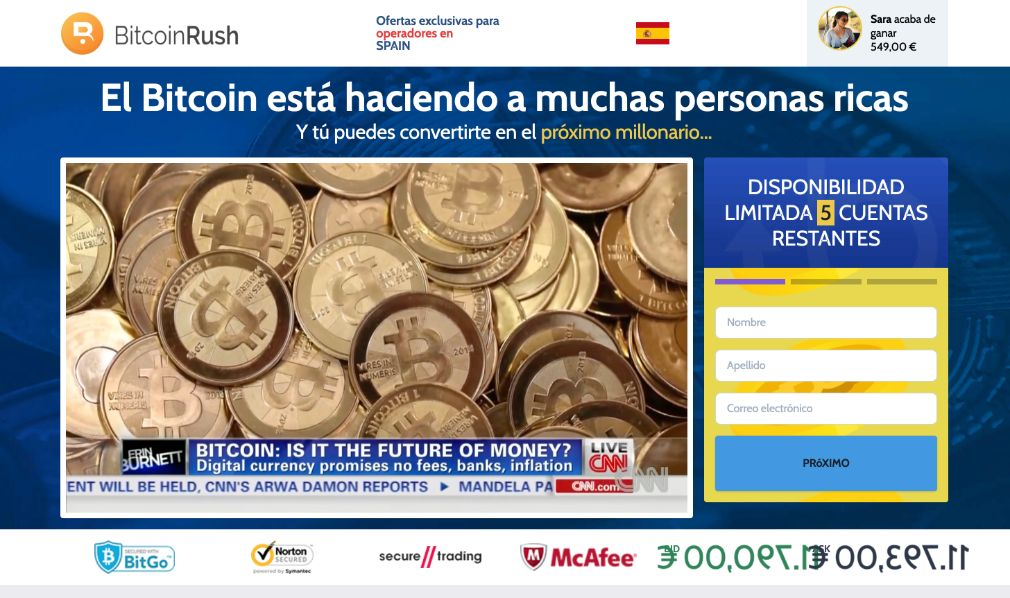 Bitcoin Rush fiable o estafa