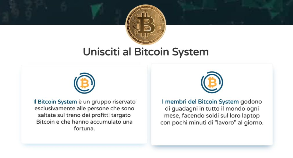 Bitcoin System benefici