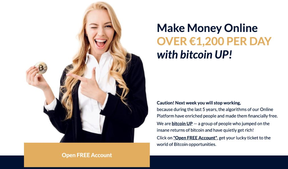 Bitcoin Up make money online