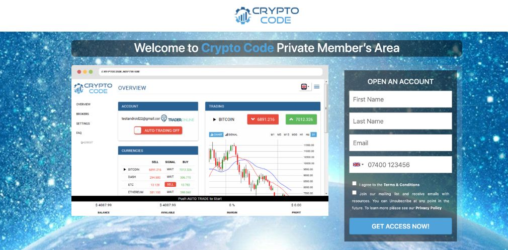Crypto Code Review – Is it SCAM or LEGIT broker?