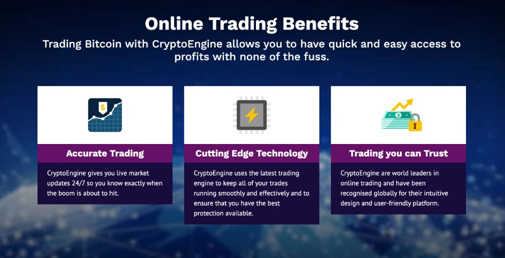 Crypto Engine trading benefits