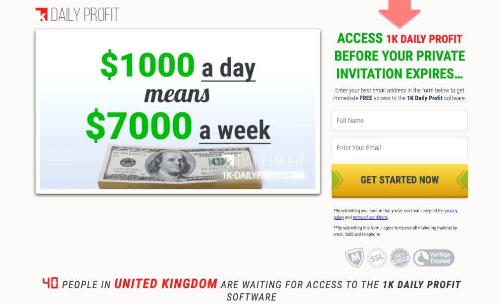 1k Daily Profit Review – Is it SCAM or LEGIT broker?
