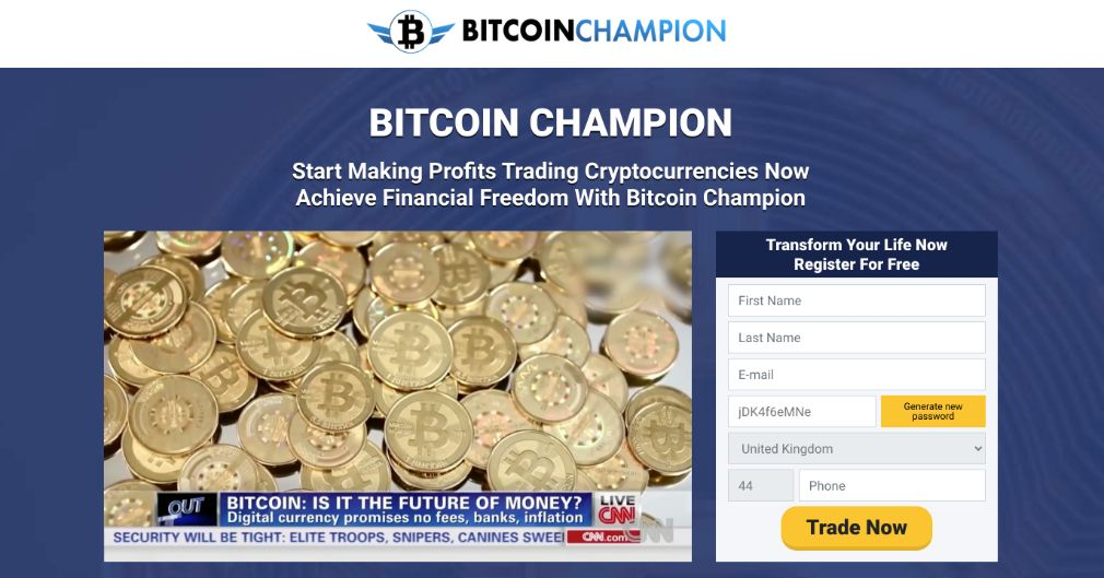 Bitcoin Champion Review – Is it SCAM or LEGIT broker?